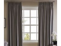 Grey blackout curtains (from Wilko)