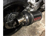 Stubby Micron exhaust can & pipe for 918 fireblade