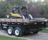 Dump Trailer and Flat deck trailer for hauling