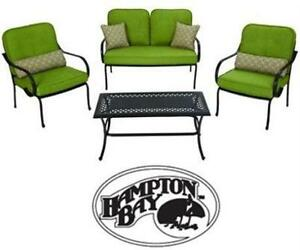 NEW HAMPTON BAY FALL RIVER 4PC SEATING SET PATIO OUTDOOR LIVING GARDEN LAWN CONVERSATION SET