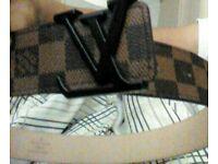 Brown Louis Vuitton belt
