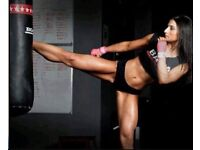 Woman boxing /fitness coach