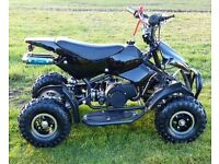 Brand new 50cc mini quad in black, fully assembled Ready to go