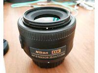 Nikon 35mm F/1.8 dx Nikkor