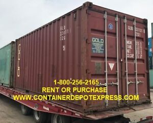 USED STEEL STORAGE CONTAINERS AVAILABLE FOR RENT or PURCHASE!!!