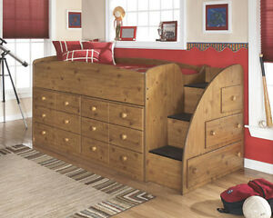 Single Bunk Bed with Storage Drawers.