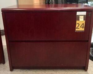 Beautiful Wood 2 Drawer Lateral Filing Cabinet