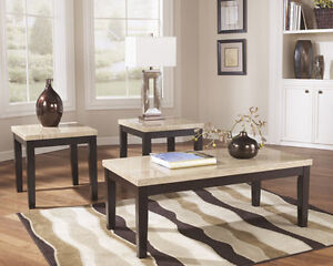 marble coffee&end tables
