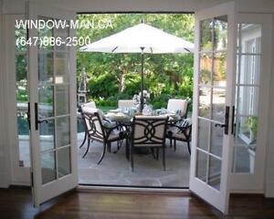 Door Patio Garden French  Custom Size