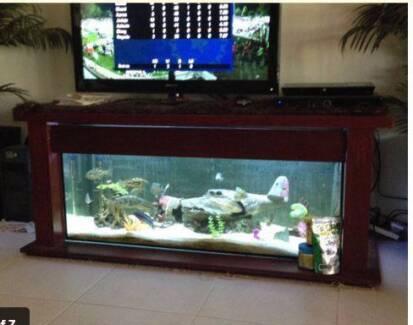 LOW LINE  FISH TANK AQUARIUM TV CABINET Hilton Fremantle Area Preview