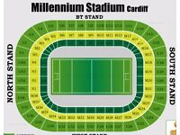 RBS 6 Nations, 2 x Wales v Ireland, excellent seats, 10th March 2017, Cardiff