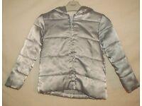 Girls GYMBOREE Silver Padded Jacket Size XS Age 4 Yrs VGC