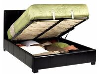 BRAND NEW --- KING SIZE STORAGE LEATHER GAS LIFT UP BED WITH SUPER ORTHOPEDIC MATTRESS AVAILBLE
