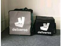 2 x Deliveroo bags - Large and Small insulated