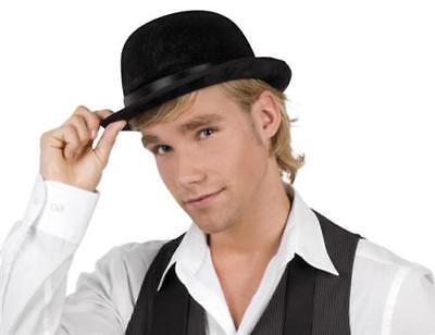 Melone schwarzer Bowler Hut für Hochzeiten  Reiterhut  Butler