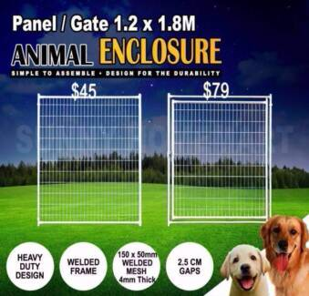 Welded Animal Pet Enclosure Mesh Panel Dog Run Kennel Playpen