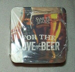"New package of 125 Samuel Adams coasters-4"" x 4"" sealed + Xmas"