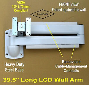 Long extension monitor arm