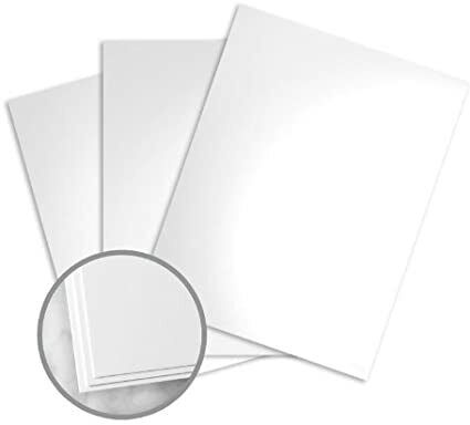 """Kromekote White Paper, 8.5"""" x 11"""", 12 pt Cover Glossy C/2S 200 / Package"""