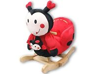 BRAND NEW Baby Rocker Rocking Chair Toy toddler Animal Soft Cuddly Musical Babies Support (Ladybird)