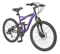 "NEW - 24"" Schwinn Teslin Full Suspension Mtn Bike"