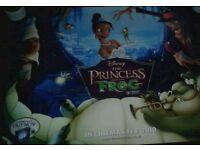 Original Disney 'the princess and the frog' signed cinema poster