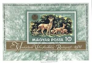 Hungary 1971 Mi BL 82 # Animals Pets Tiere Zwierzęta Reh Deer Roe - <span itemprop='availableAtOrFrom'> Dabrowa, Polska</span> - Hungary 1971 Mi BL 82 # Animals Pets Tiere Zwierzęta Reh Deer Roe -  Dabrowa, Polska