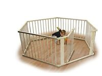 Monsieur Bébé ® Wood Safety barrier and playpen 8 sides - Standard EN 12227