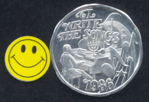 Barry Manilow  I Write The Songs Mardi Gras Doubloon Token 1986