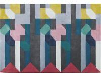 Colourful handmade rug, hardly used - Merida Rug, 170 x 240cm from Made