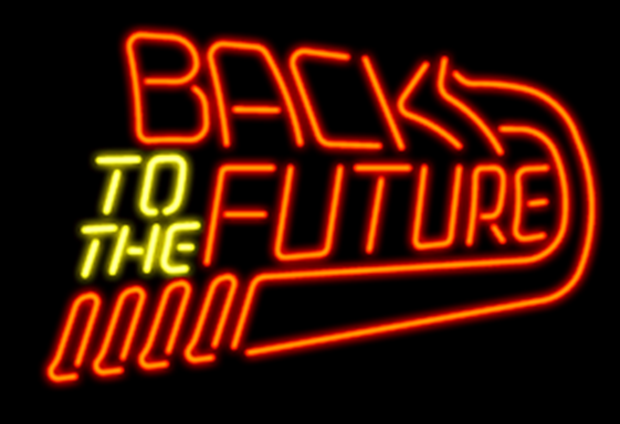"""New Back To The Future Neon Light Sign 17""""x14"""" Real Glass Ba"""