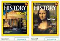 Looking for editions of National Geographic History magazines