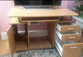 Ikea laptop table vittsjÖ black glass with lennart drawer unit in