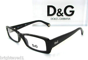 authentic dg dolcegabbana black eyeglass frame rx dd 1193 501 new 50mm