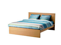 Double bed (frame + mattress) - IKEA - good condition