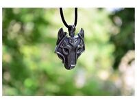 Vikings Norse Wolf Head Necklace