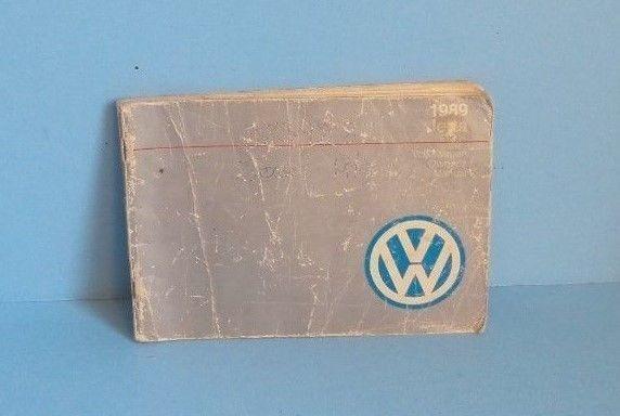 89 1989 VW Jetta owners manual