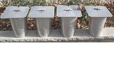Set of 4 MAPLE SYRUP Aluminium Sap BUCKETS + Lids Covers + Taps Spouts Spiles
