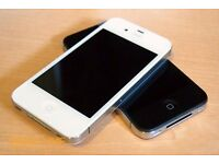 """IPHONE 4S, White & Black, 16gb, Factory Unlocked, Mint Condition """"TRUSTED SELLER"""" Reduced £68 Each"""