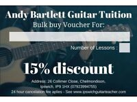 Guitar Lessons in Ipswich & surrounding areas with Professional Guitarist - Sensibly Priced