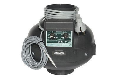 Prima Klima Ventilator PK100, 280m³/h Temperaturkontrolle mit Sensor Grow