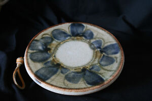 Trivet - New Handmade Pottery, with Leather Hanging Straps Kingston Kingston Area image 1