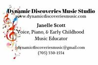 Dynamic Discoveries Music Studio: Piano and Singing Lessons