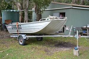 Allycraft 3.7 m aluminium runabout with 15 hp Yamaha motor Eagleby Logan Area Preview