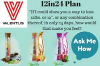 "Lose 12lbs or 12"" or any combination therof, in only 24 days."