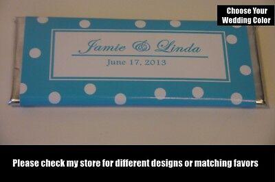 10 Polka Dot Personalized Wedding Candy Bar Wrappers Customized Weddings Favor (Dots Candy Bar Wrappers)