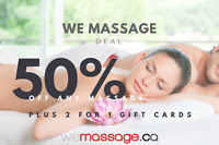 RMT Massage Delivered: in-home | office | hotel or visit a Spa