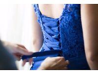 ROYAL BLUE BRIDESMAID DRESS SIZE 10