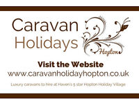 Caravan Holidays Hopton - Privately owned caravans to hire at Haven Hopton, Great Yarmouth, Norfolk