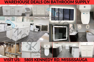 FAUCETS, LED MIRRORS, SHOWER, VANITIES BATHROOM WAREHOUSE DEAL